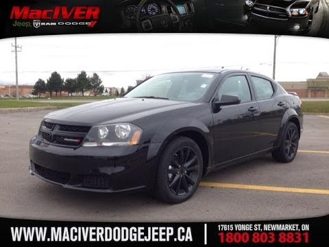2014 Dodge Avenger SE Black Top | MacIver Dodge Jeep | Newmarket Ontario - YouTube