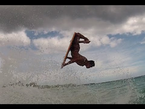 Body Boarding at Big Beach, Maui 2012 ~ How to fly during a south swell