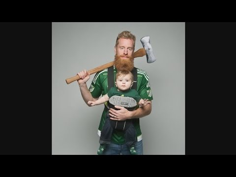 Portland Timbers players and their families get their Axe Photos