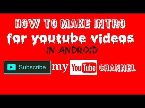 How To Make An Intro For Your YouTube Video for FREE! By technical urdu