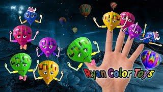 Finger family rhymes [Hot air Balloon] Finger Family rhymes Song Dady finger | fruits finger family