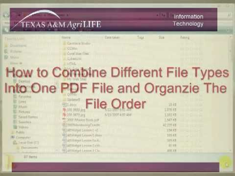 How to Combine Different File Types into One PDF File and Organize the file Order