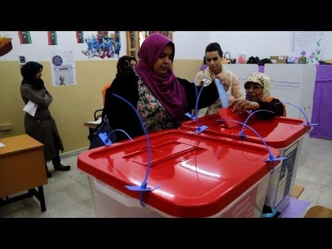 Libyans vote for constitution panel