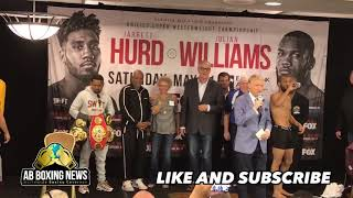 Jarrett Hurd vs Julian Williams Weigh in's and face off