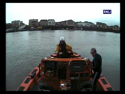 RNLI rescue dog walker who fell into Thames at Chiswick, London