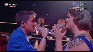"Jessica Cipriano e Nuno Ribeiro - ""All of me"" - The Voice Portugal - Gala 4"