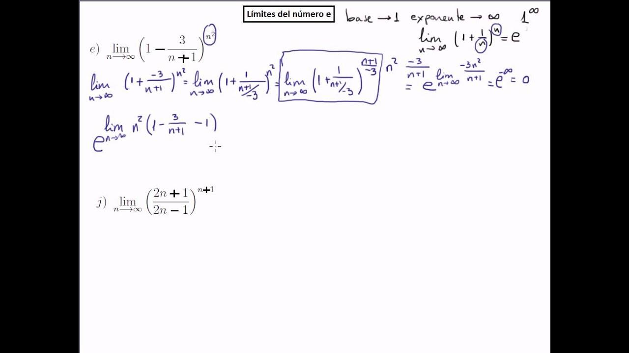 Tipos de Numero Uno Límites Del Tipo Número e