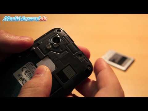 Samsung Galaxy Ace S5830 SIM-Karte und Akku einsetzen Handy Telefon Mobile
