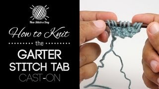 How to Knit the Garter Stitch Tab Cast On for Triangular Shawls