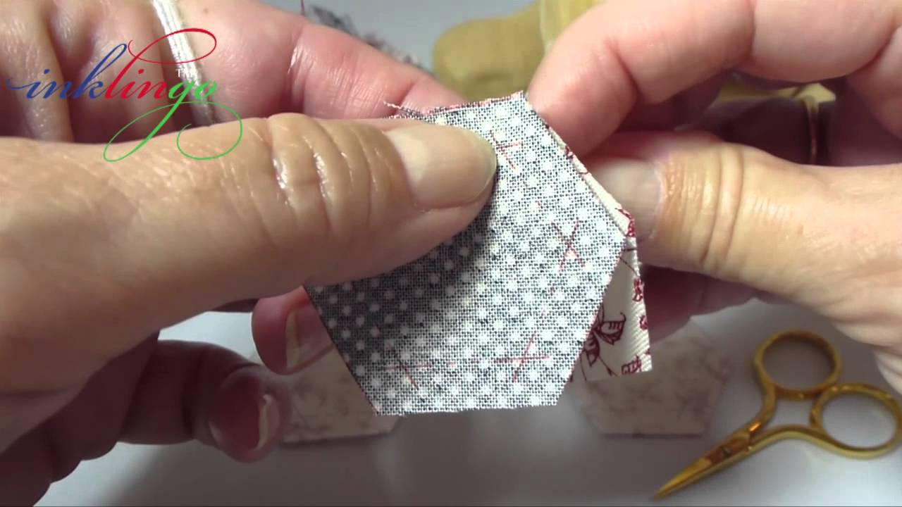 how to hand sew hexagons youtube. Black Bedroom Furniture Sets. Home Design Ideas