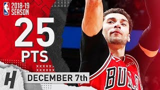 Zach LaVine Full Highlights Bulls vs Thunder 2018.12.07 - 25 Pts, 7 Ast, 4 Rebounds!