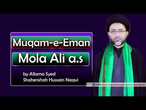 Muqam-e-Eman Mola Ali a.s by Allama Syed Shahenshah Hussain Naqvi