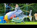 STUNNING HUGE RC EUROCOPTER EC-120 KOLIBRI TURBINE MODEL HELICOPTER FLIGHT DEMO BY BERND PÖTING