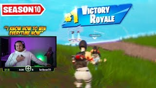 LosPollosTv Finally Got His First Fortnite Win Of Season 10
