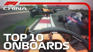 Top 10 Onboards | 2019 Chinese Grand Prix