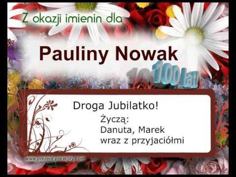 Piosenka Dla Pauliny Na Imieniny, Z Jej Imieniem Paulina