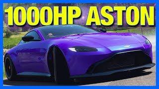 Forza Horizon 4 Customization : 1000 Horsepower Aston Martin Drift Monster!!