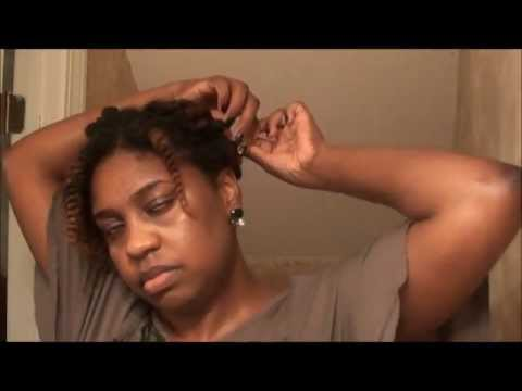 2 Strand Twist Natural Hair Updo (Semi Protective Style)