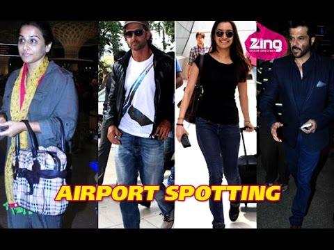 Anil Kapoor, Farhan Akhtar, Vidya Balan at Mumbai Airport