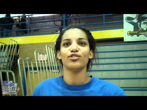 High school girls basketball: Lori Parkinson (Cyprus Pirates) post-game interview 12-30-11.