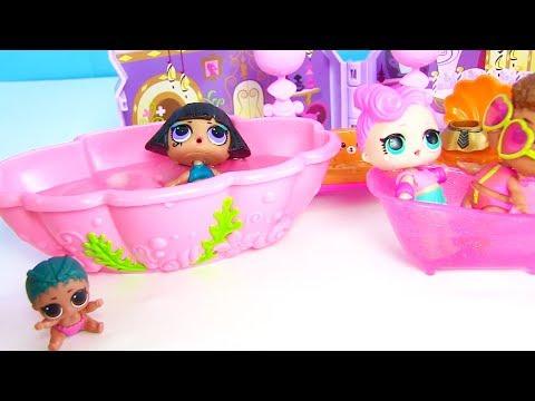 Мультик Куклы Лол! Играем с лол в Салон Красоты! Сюрпризы лол от Эльзы Lol Surprise