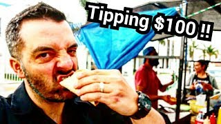 UNBELIEVABLE Mexican Street Food!! - DELICIOUS Tacos - Tipping Hard Working People