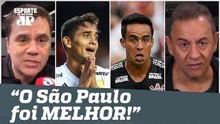 """""""O São Paulo foi MELHOR que o Corinthians!"""" Veja ANÁLISE da 1ª final do Paulistão!"""