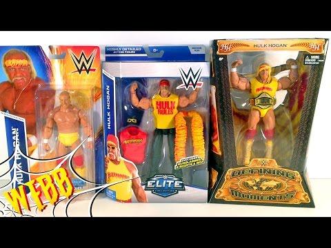WWE HULK HOGAN Triple Threat Action Figure Comparison