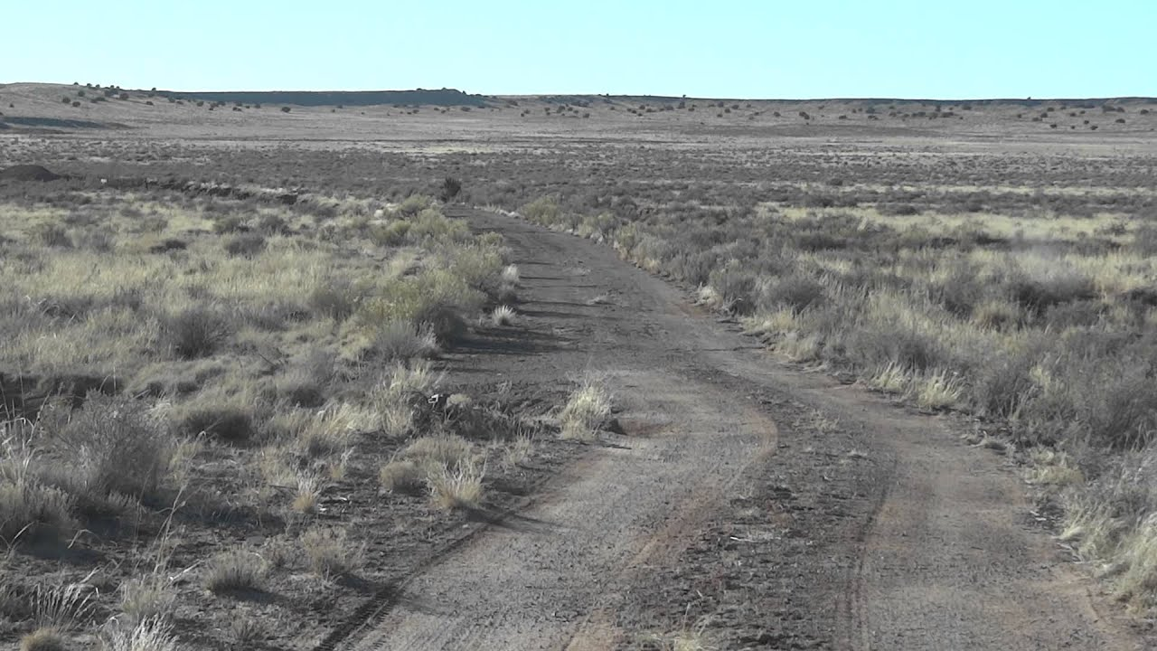 Driving On Old Route 66 From Navajo Arizona Towards
