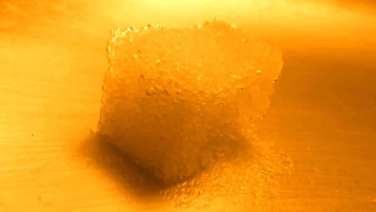 Dissolving Sugar a Sugar Cube Dissolving at