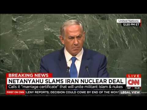 Silêncio constrangedor na ONU em discurso de Netanyahu (Legendado)