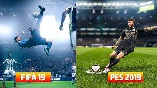 Pes 2019 Vs FIFA 19 Graphics Comparison