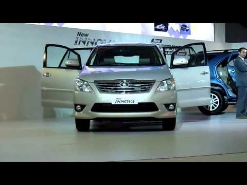 New Toyota Innova with Specifications at Auto Expo 2012. New Delhi. India