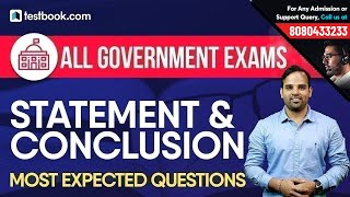 Important Reasoning Questions on Statement & Conclusion for All Government Exams | Sachin Modi Sir