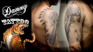 Tatuagem India - Danny Tattoo (Indian Tattoo) TimeLapse