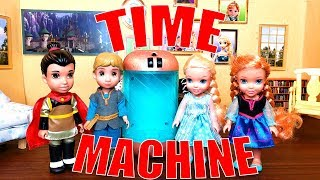 TIME MACHINE! Elsa and Anna and Kristoff Toddlers Travel to the Future [TIME TRAVEL]