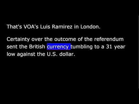 VOA news for Friday, June 4th, 2016