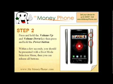 HARD RESET Motorola Droid RAZR MAXX (external) Wipe Reset (RESTORE to FACTORY condition) Video