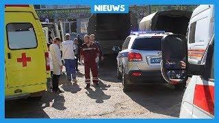 Explosie en schietpartij op school in de Krim