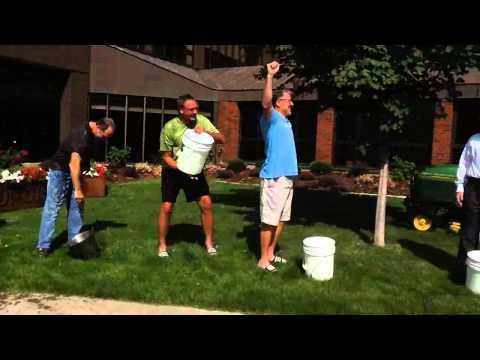 Abbott Northwestern Hospital's senior management team accepts Ice Bucket Challenge for ALS