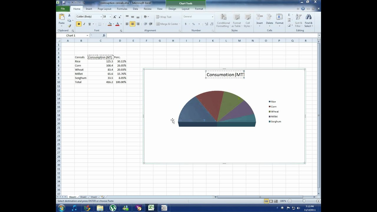 Create pie charts in excel youtube mandegarfo create pie charts in excel youtube ccuart Choice Image