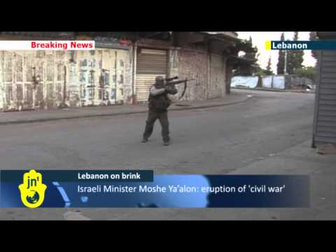 Tripoli violence continues: Israeli Minister Moshe Ya'alon warns Lebanon on the verge of civil war