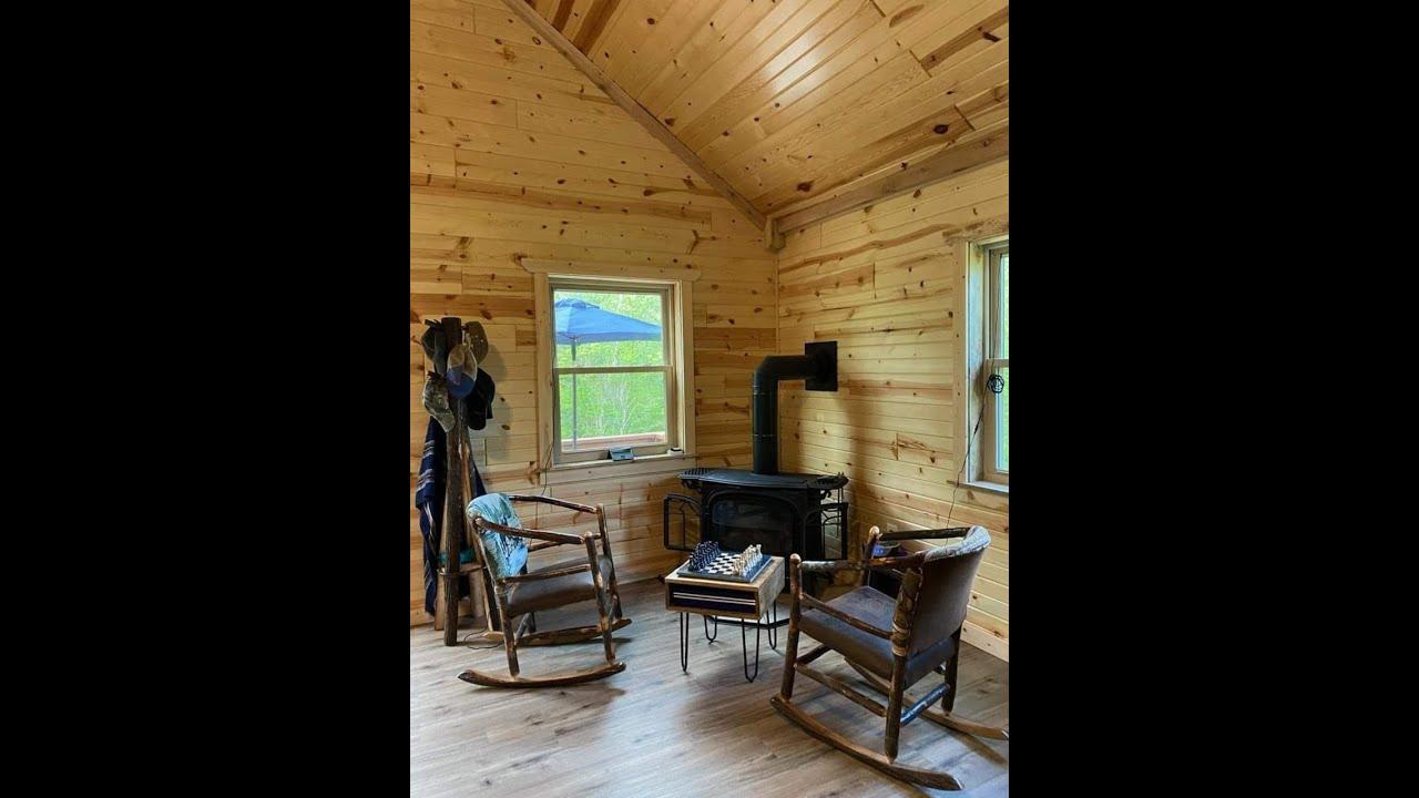 24 x32 Log cabin Amish built - YouTube