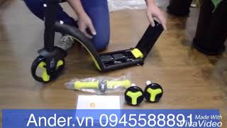 Hướng dẫn lắp xe Scooter 3in1 Nadle