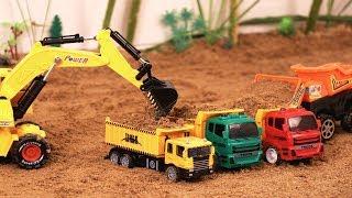 Video for children | Excavator tractor | Backhoe loader | Dumper truck for kids | Construction toys