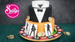 James Bond Motivtorte 007 / Fondant Cake / Casino Royale Cake