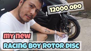 NEW RACING BOY ROTOR DISC FOR NMAX/AEROX   12000 ODO   YAMAHA MAINTENANCE