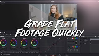 How to Grade any Type of LOG Footage QUICKLY | SLOG, V-LOG, CLOG