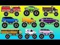 Мультики про Машинки для детей Цвета для детей Изучаем Транспорт пожарка самосвал джип лимузин mp3