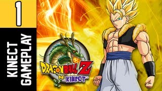 Dragonball Z Kinect Gameplay - Part 1 Goku vs Raditz Stage Full Body Cam